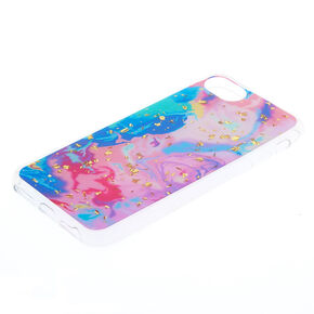 Pastel Marble with Gold Foil Flakes Phone Case - Fits iPhone 6/7/8 Plus,
