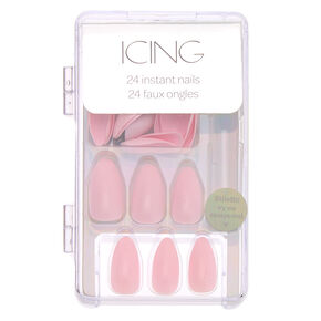 Glossy Faux Nail Set - Blush, 24 Pack,
