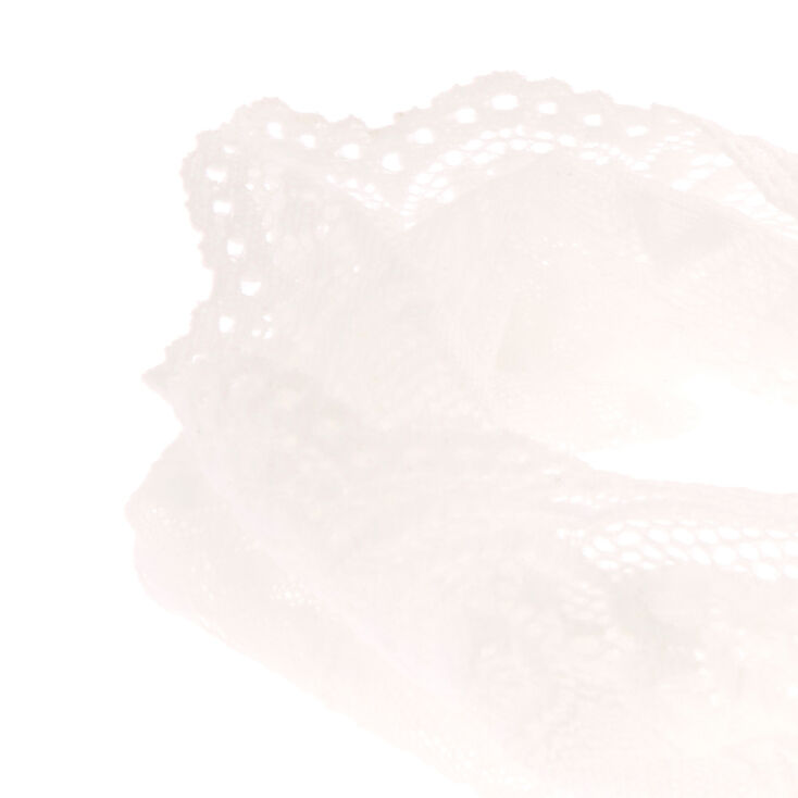 Wide White Lace Headwrap,
