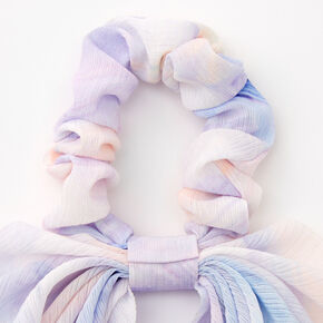 Small Watercolor Hair Scrunchie Scarf - Lilac,