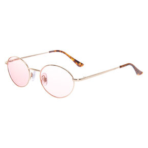 Small Oval Sunglasses - Pink,