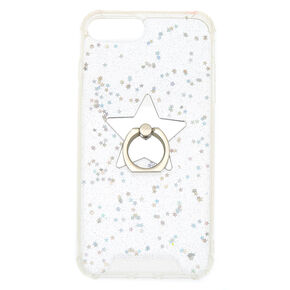 Iridescent Star Ring Stand Phone Case,