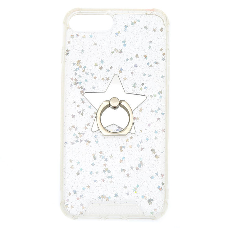 Iridescent Star Ring Stand Phone Case - Fits iPhone 6/7/8 Plus,