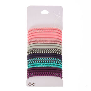 Sparkle & Striped Hair Ties,