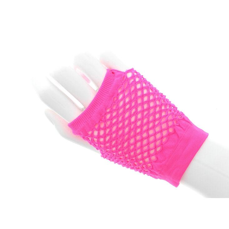 Vintage Style Gloves- Long, Wrist, Evening, Day, Leather, Lace Icing Flash Fishnet Gloves - Pink $6.99 AT vintagedancer.com