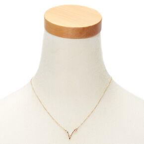 Gold Zodiac Constellation Pendant Necklace - Pisces,