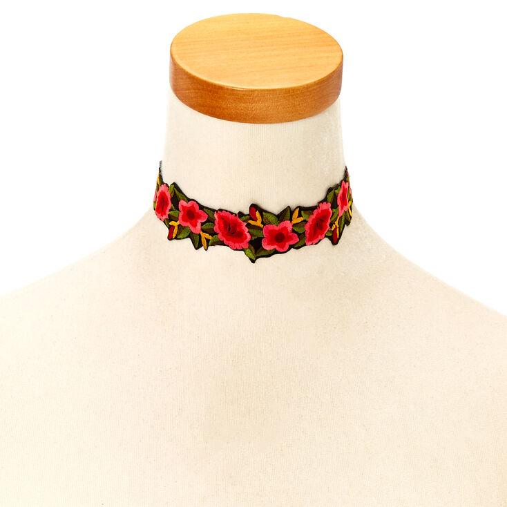 Floral Rose Choker Necklace,