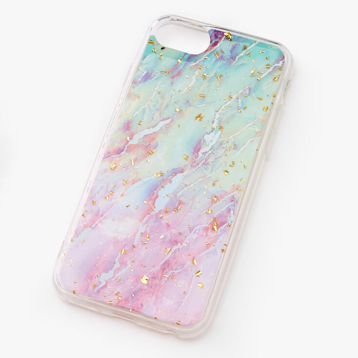 Gold Flecked Pastel Marble Phone Case - Fits iPhone 6/7/8/SE,
