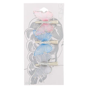 Iridescent Pastel Butterfly Hair Pins - 3 Pack,