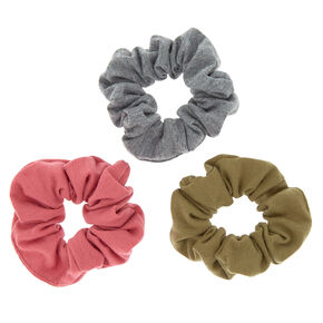 Earth Tone Hair Scrunchies - 3 Pack,