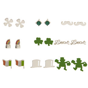 9 Pack St. Patrick's Day Stud Earrings,