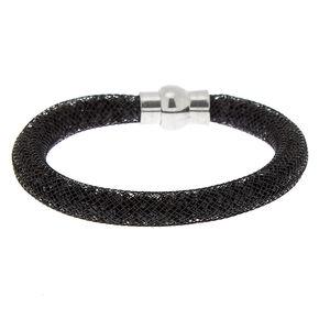Mesh Bangle Bracelet - Black,