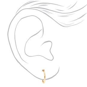 Mixed Metal Flower Butterfly Earrings - 9 Pack,