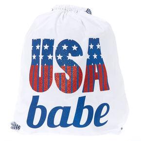 USA Babe Drawstring Bag - White,