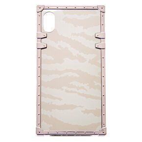 Silver Zebra Square Phone Case - Fits iPhone XS Max,