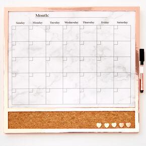 Framed Dry Erase Calendar Board,