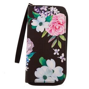 Floral Wristlet - Black,