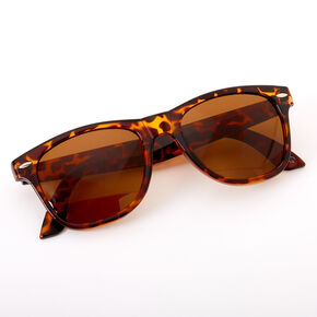 Retro Tortoiseshell Sunglasses - Brown,