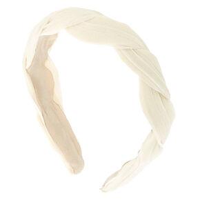 Chiffon Twisted Headband - Ivory,