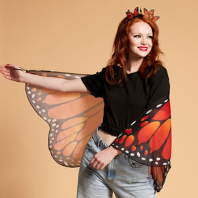 Monarch Butterfly Costume Set - Orange, 2 Pack,