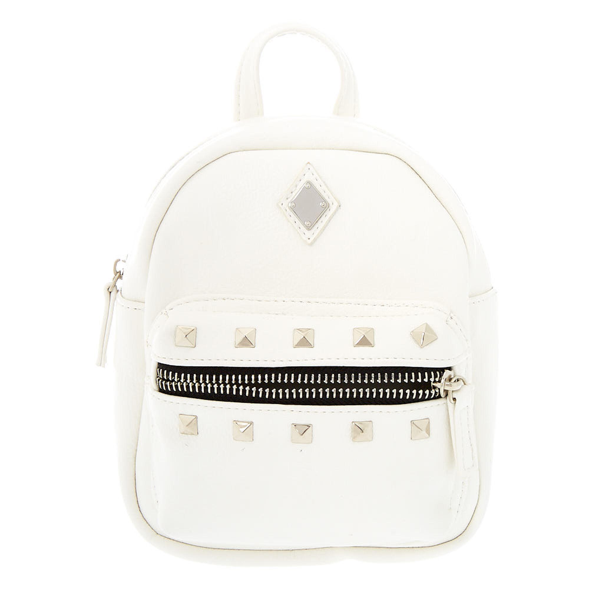 e3b0db73bd7 Leather Studded Mini Backpack - White