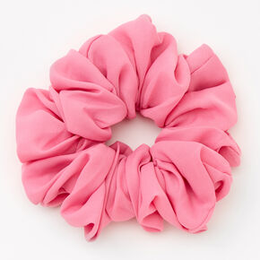 Giant Solid Hair Scrunchie - Candy Pink,