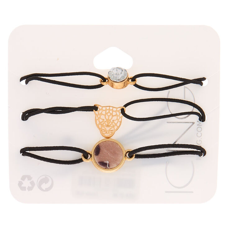 Fierce Leopard Stretch Bracelets - 3 Pack,