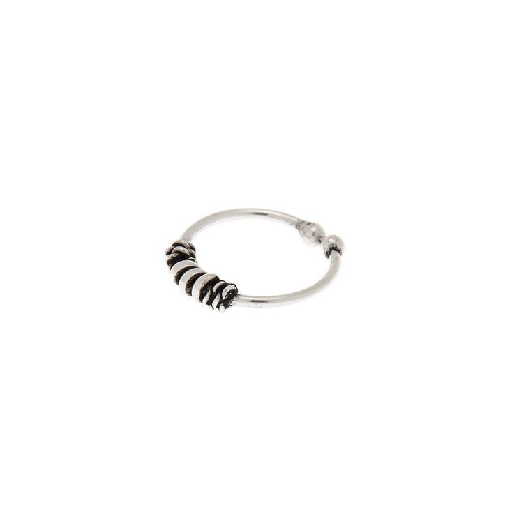 Sterling Silver Bali Twist Faux Nose Ring,
