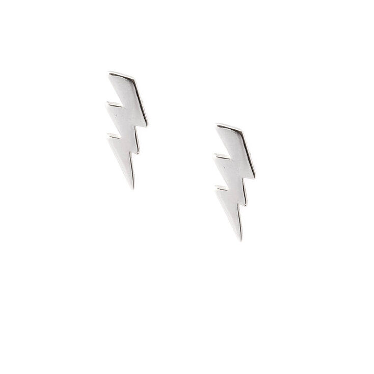 Sterling Silver Lightning Bolt Stud Earrings Icing Us