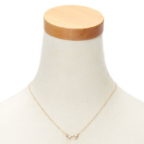 Gold Zodiac Constellation Pendant Necklace - Scorpio,