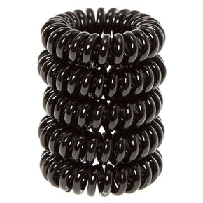 Mini Black Coiled Hair Ties,