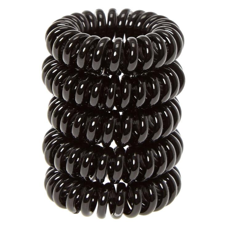 Mini Black Coiled Hair Ties  bf60079dca7