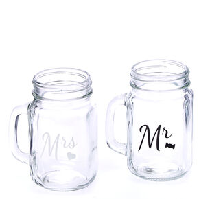 Mr. & Mrs. Mason Jar Set,
