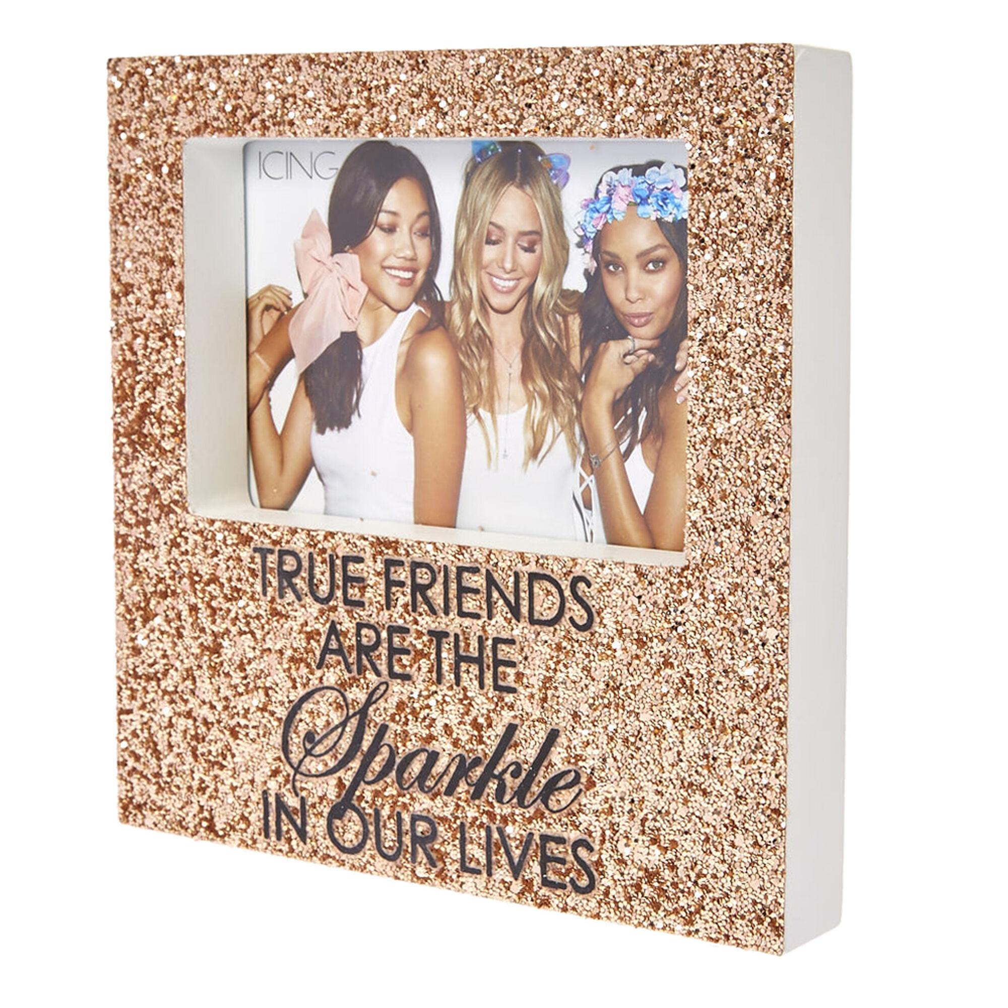 058f399bc189 ... Rose Gold Glitter True Friends Photo Frame