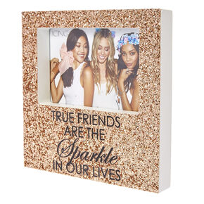 Rose Gold Glitter True Friends Photo Frame,