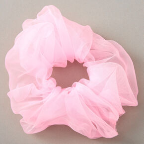 Giant Organza Hair Scrunchie - Pink,