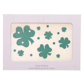 Shamrock Glitter Body Stickers,