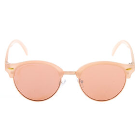 Mod Round Sunglasses - Rose Gold,