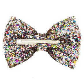 Rainbow Cake Glitter Mini Hair Bow Clip,