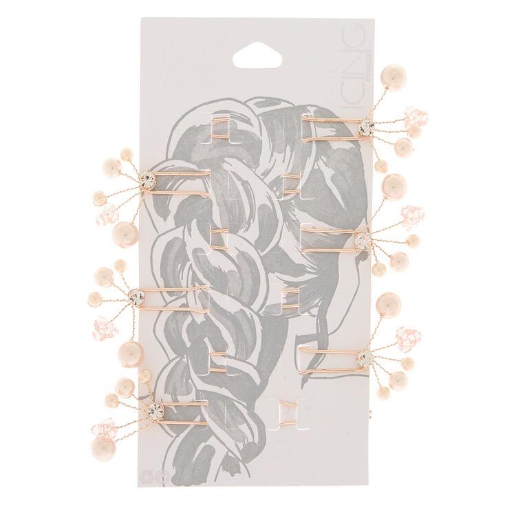 Rose Gold Pearl Hair Pin,