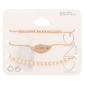 Rose Gold Adjustable Bracelet Set,