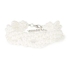 Twisted Ivory Pearl Bracelet,