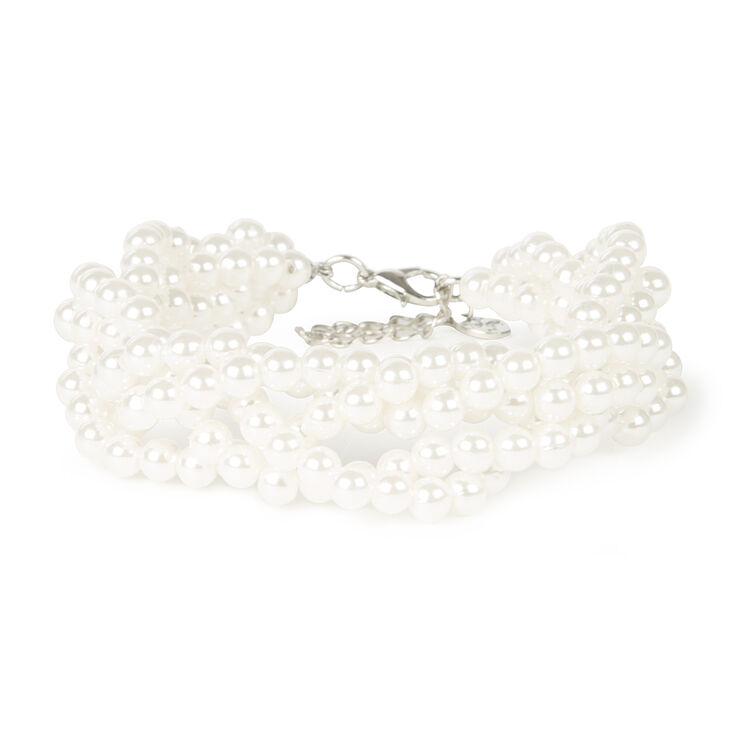 Pearl Braided Chain Bracelet,