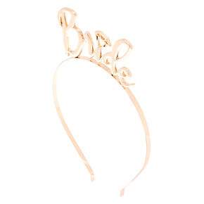 Bride Script Headband - Gold,