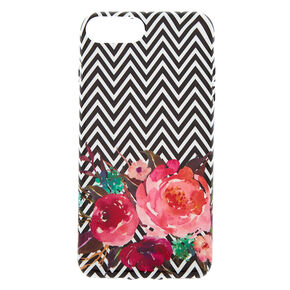 Chevron Floral Phone Case  - Fits iPhone 6/7/8 Plus,