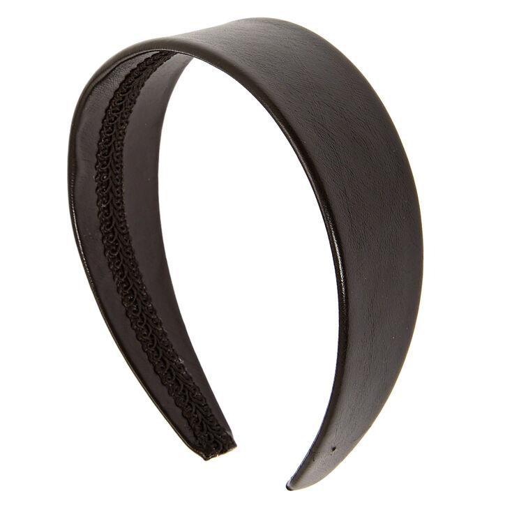 Wide Black Headband,