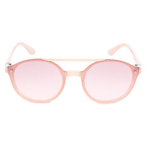 Round Aviator Sunglasses - Pink,