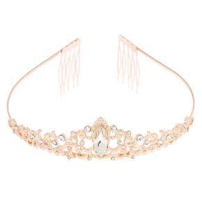 Rose Gold Filigree Princess Tiara,