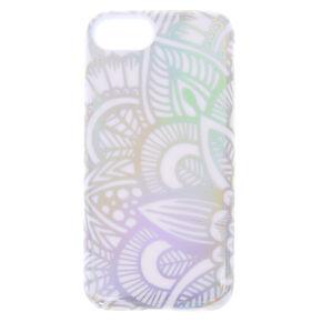Holographic Mandala Protective Phone Case - White,