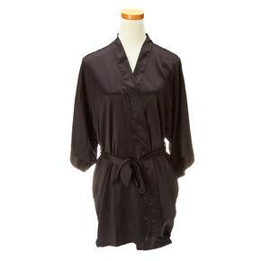 Gorgeous Black Satin Robe,